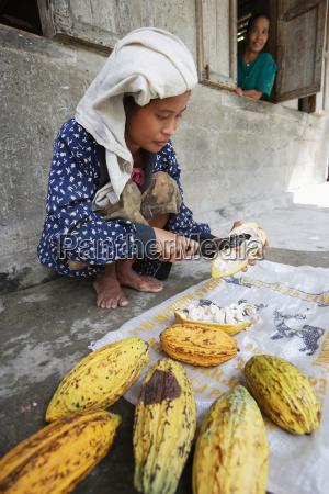 donna viaggio viaggiare colore agricoltura indonesia