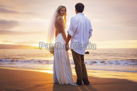 married couple bride and groom at