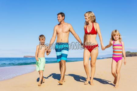 family vacation happy family having fun