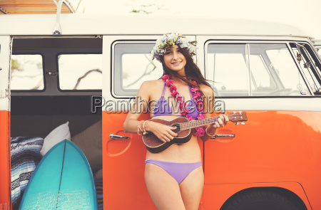 beach lifestyle beautiful surfer girl with