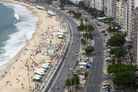 part of copacabana beach in rio