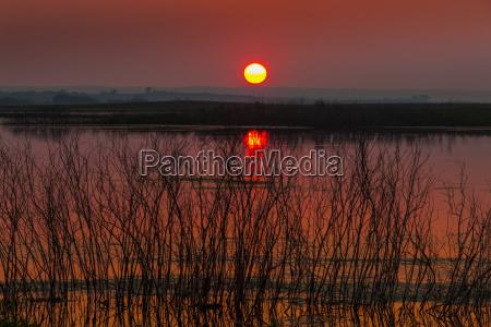 luce colore orizzonte tramonto alba riflesso