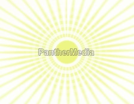 illustrazioni dei raggi del sole