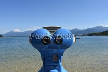 sguardo vista binocolo telescopio automa robot