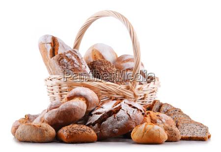 composizione con prodotti da forno assortiti