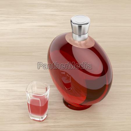 bicchiere bere alcool bottiglia acquavite cognac