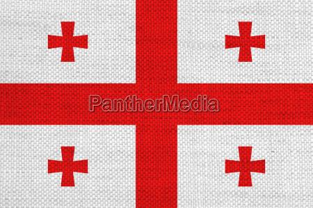 rurale bandiera georgia tela nazione rustico