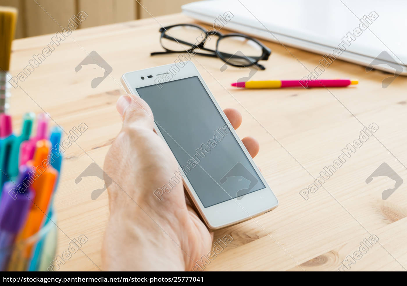 smartphone, o, telefono, mobile, a, mano - 25777041