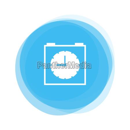 light blue button alarm clock