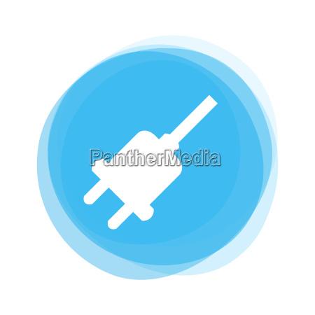 light blue button plug