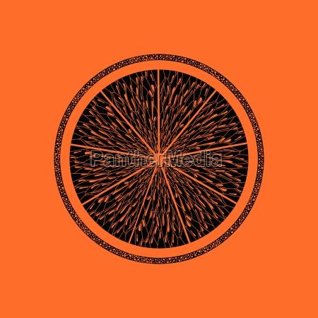 icon of orange