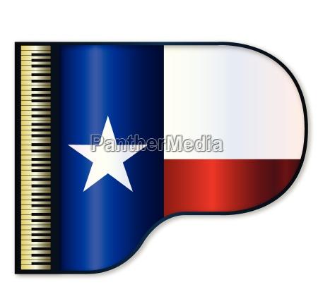 grand piano texas flag