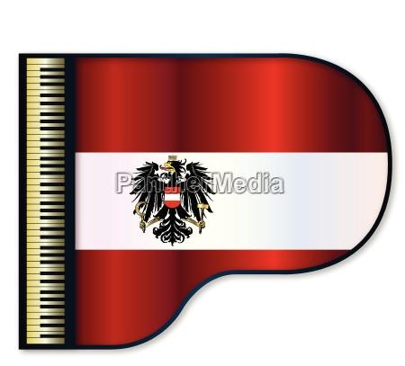 grand piano austrian flag