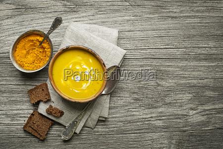 cibo pasto ingredienti aperitivo curcuma zuppa
