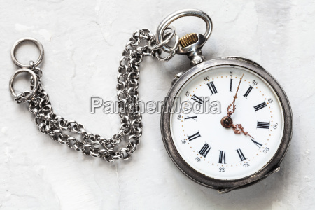 retro pocket watch with chain on