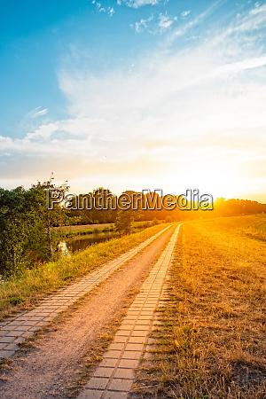 beauty summery sunset on the hunte