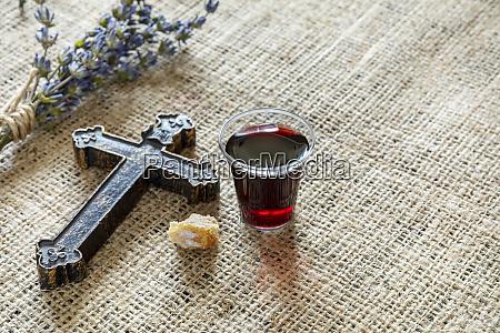 bicchiere pane religione religioso chiesa dio