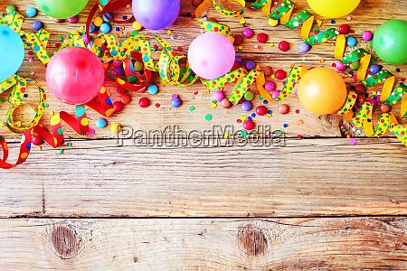 palloncini di carnevale o compleanno sfondo