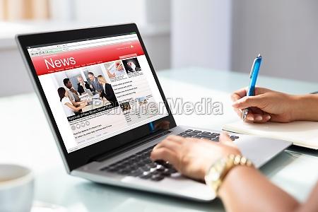 giornale tageblatt portatile computer notizie collaudare