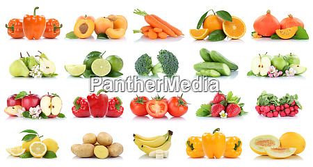 frutta e verdura collezione isolated mela