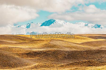 paesaggio montano panoramico della nuova zelandia