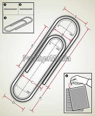 disegno ingegneristico di una graffetta