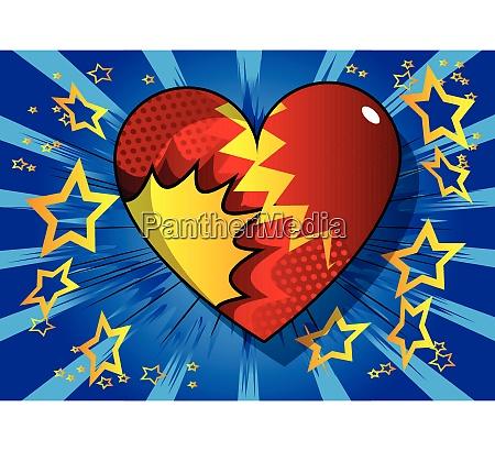 cuore in stile fumetto