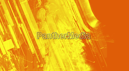 abstract montage of yellow and orange
