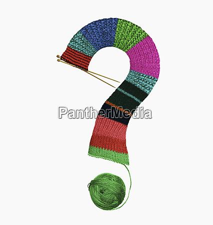 filati lavorati a maglia in un