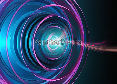 abstract digitally generated pattern with light