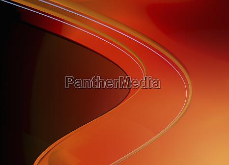 bright orange abstract wave pattern
