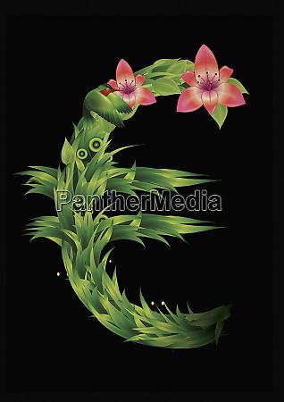 blooming euro symbol