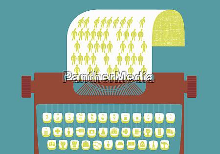 macchina da scrivere con i tasti
