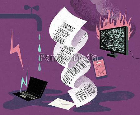 montaggio della documentazione assicurativa e danni