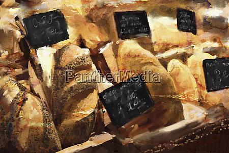 vicino al panificio vetrina di pane