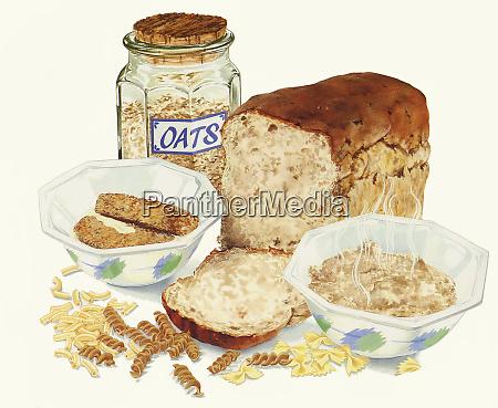 vari alimenti a cereali