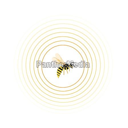 hvepse indvendigt cirkel monster
