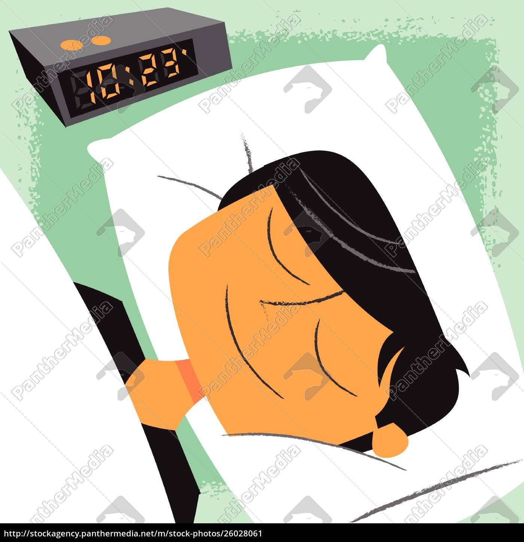 uomo, sorridente, che, dorme, vicino, alla - 26028061