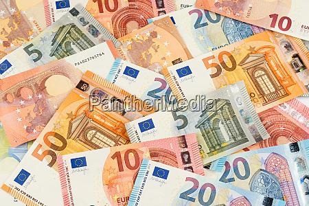 euro banconote valuta finanziaria sfondo