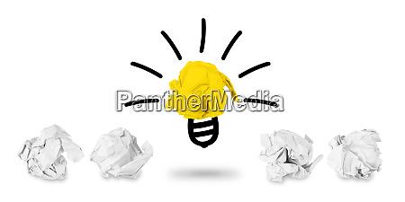 idea palla carta concetto