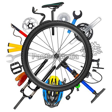concetto di ruota per biciclette