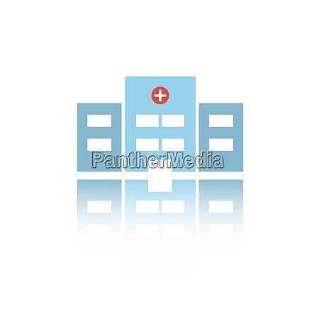 icona di colore dellospedale isolata con