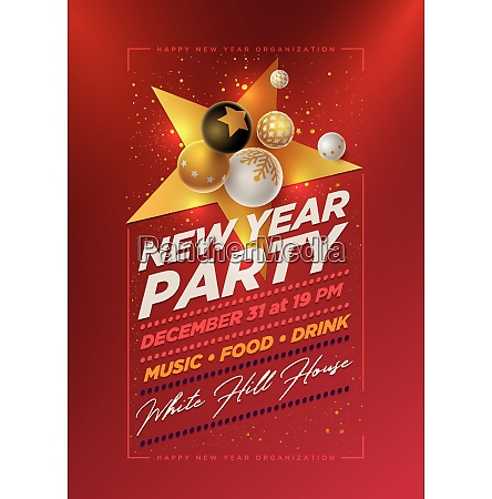 new year party design template