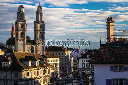 zurich switzerland view of the