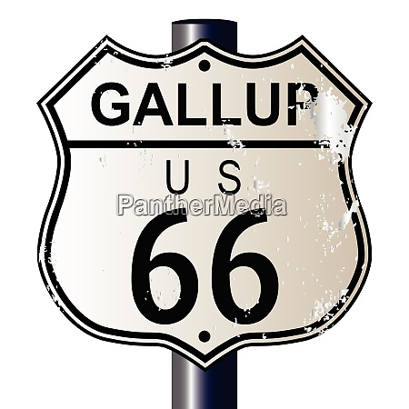 gallup route 66 sign