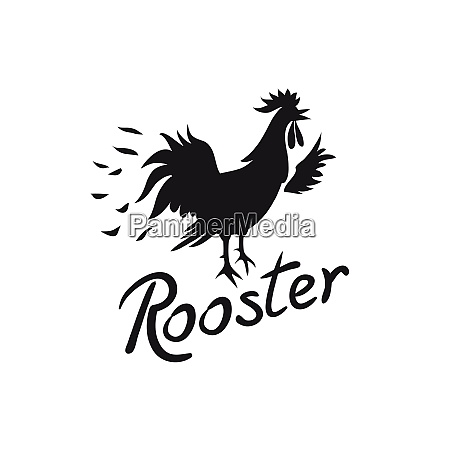 rooster logo cock image with text