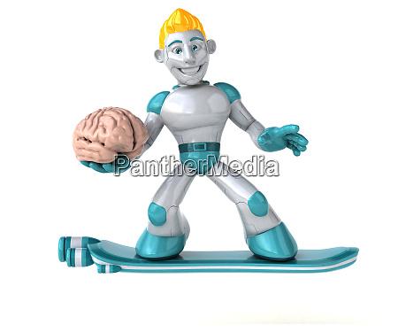robot 3d illustration
