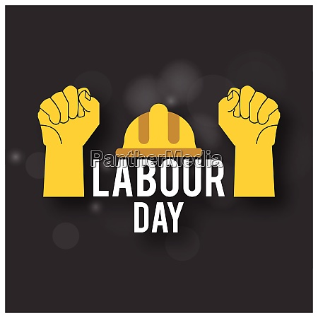 happy labor day simple typography with