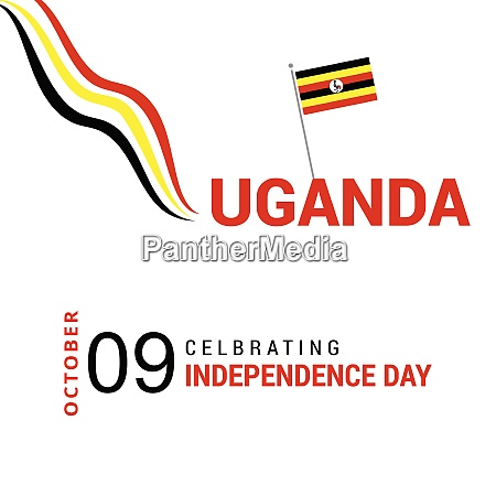 vector 9th october uganda independence day