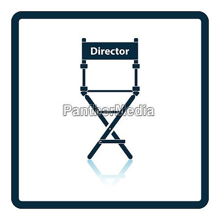 icona della sedia del direttore disegno